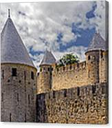 Walls Of Carcassonne Canvas Print