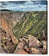 Walls Of The Black Canyon Canvas Print