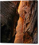 Wallstreet - The Narrows In Zion National Park. Canvas Print