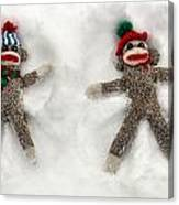 Wally And Petey Snow Angels Canvas Print