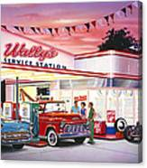 Wallys Service Station Canvas Print