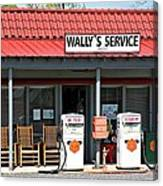 Wally's Service Station Mayberry Nc Canvas Print