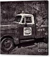Wally's Towing Bw Canvas Print