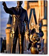 Walt And Mickey Canvas Print