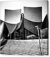 Walt Disney Concert Hall In Black And White Canvas Print