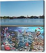 Walt Disney World Cars 2 Digital Art Composite 02 Canvas Print
