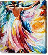 Waltz - Palette Knife Oil Painting On Canvas By Leonid Afremov Canvas Print