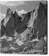 109646-war Bonnet And Warrior 1, Wind Rivers Canvas Print