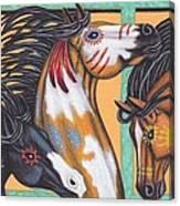 War Horse Family Canvas Print