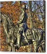 War Horses - Major General John Sedgwick Commanding Sixth Corps Autumn Gettysburg Canvas Print