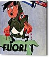 War Poster - Ww2 - Out With The Fuhrer Canvas Print