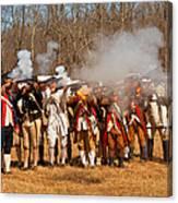 War - Revolutionary War - The Musket Drill Canvas Print