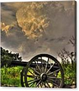 War Thunder - The Clouds Of War 2a - 4th New York Independent Battery Above Devils Den Gettysburg Canvas Print