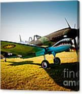 Warbird Curtiss P-40 E Canvas Print