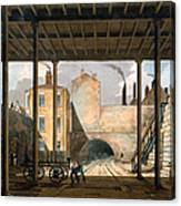 Warehouses Etc At The End Of The Tunnel Canvas Print