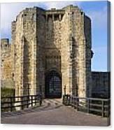 Warkworth Castle Gate House Canvas Print