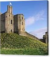 Warkworth Castle In Spring Canvas Print