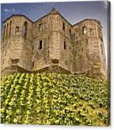 Warkworth Castle In The Sky Canvas Print