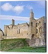 Warkworth Castle Panorama Canvas Print
