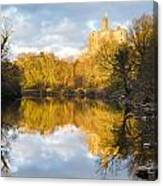 Warkworth Castle Reflected Canvas Print