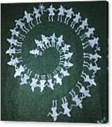 Warli On Handmade Paper Canvas Print