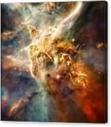 Warm Carina Nebula Pillar 3 Canvas Print