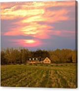 Warm Spring Sunset Canvas Print