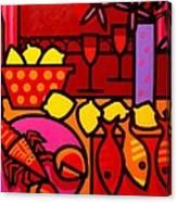 Warm Still Life At Window Canvas Print