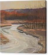 Warm Winter At Catfish Corner Canvas Print