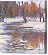 Warm Winter Reflections Canvas Print
