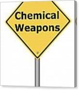 Warning Sign Chemical Weapons Canvas Print
