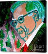 Warren Buffett Sage Of Omaha 2 Canvas Print