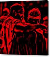 Warren Sapp And Jon Gruden Canvas Print