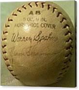 Warren Spahn Baseball Autograph Canvas Print