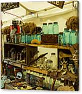 Warrenton Antique Days Eclectic Display Canvas Print