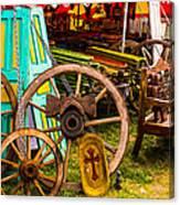 Warrenton Antique Days Wood Wheels And Wonders Canvas Print