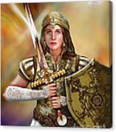 Warrior Bride Of Christ Canvas Print