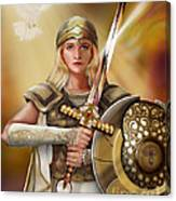 Warrior Bride Canvas Print