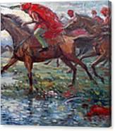 Warriors In Return Canvas Print