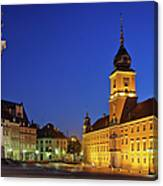Warsaw By Night Canvas Print