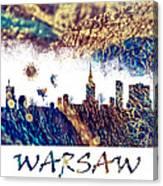 Warsaw Skyline Postcard Canvas Print