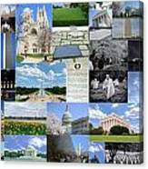 Washington D. C. Collage 2 Canvas Print
