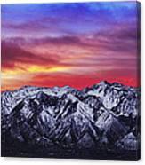 Wasatch Sunrise 2x1 Canvas Print