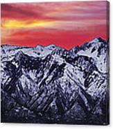 Wasatch Sunrise 3x1 Canvas Print
