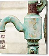 Wash Your Hands Child's Bathroom Decor Canvas Print