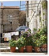 Washday In Dubrovnik Canvas Print
