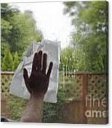 Washing A Window Canvas Print