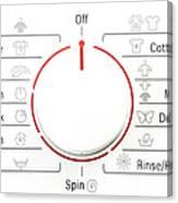Washing Machine Controls With Symbols Canvas Print