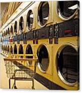 Washing Machines At Laundromat Canvas Print
