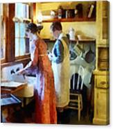 Washing Up After Dinner Canvas Print